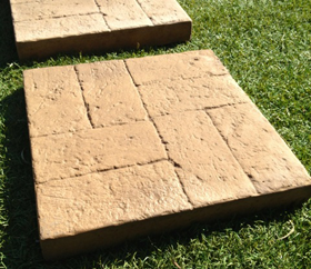 Brick Pattern Stepping Stones