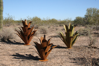 Steel Agave Sculptures