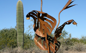 Steel Bird of Paradise Sculptures