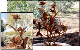 Steel Desert Rose Sculptures