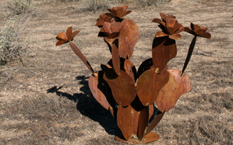 Steel Prickly Pear Sculptures