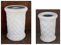 Bahama Style Outdoor Concrete Waste & Ash Receptacles