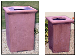 Classic Outdoor Concrete Waste & Ash Receptacles