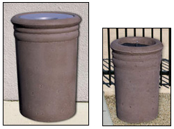 Ribbed Outdoor Concrete Waste & Ash Receptacles