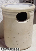 Round Tall Concrete Waste - Ash Combination Receptacles