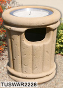 Tuscany Style Concrete Waste - Ash Combination Receptacles