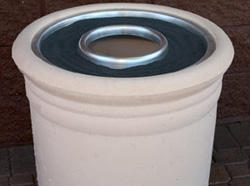 Optional Waste/Ash Lid for Concrete Waste Receptacle